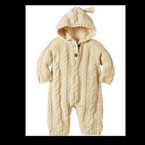 Hanna Andersson Cable Knit Onesie Sz 3T NWT